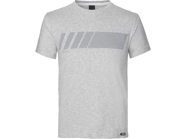 GripGrab Racing Stripe SS Organic Cotton T-Shirt grey